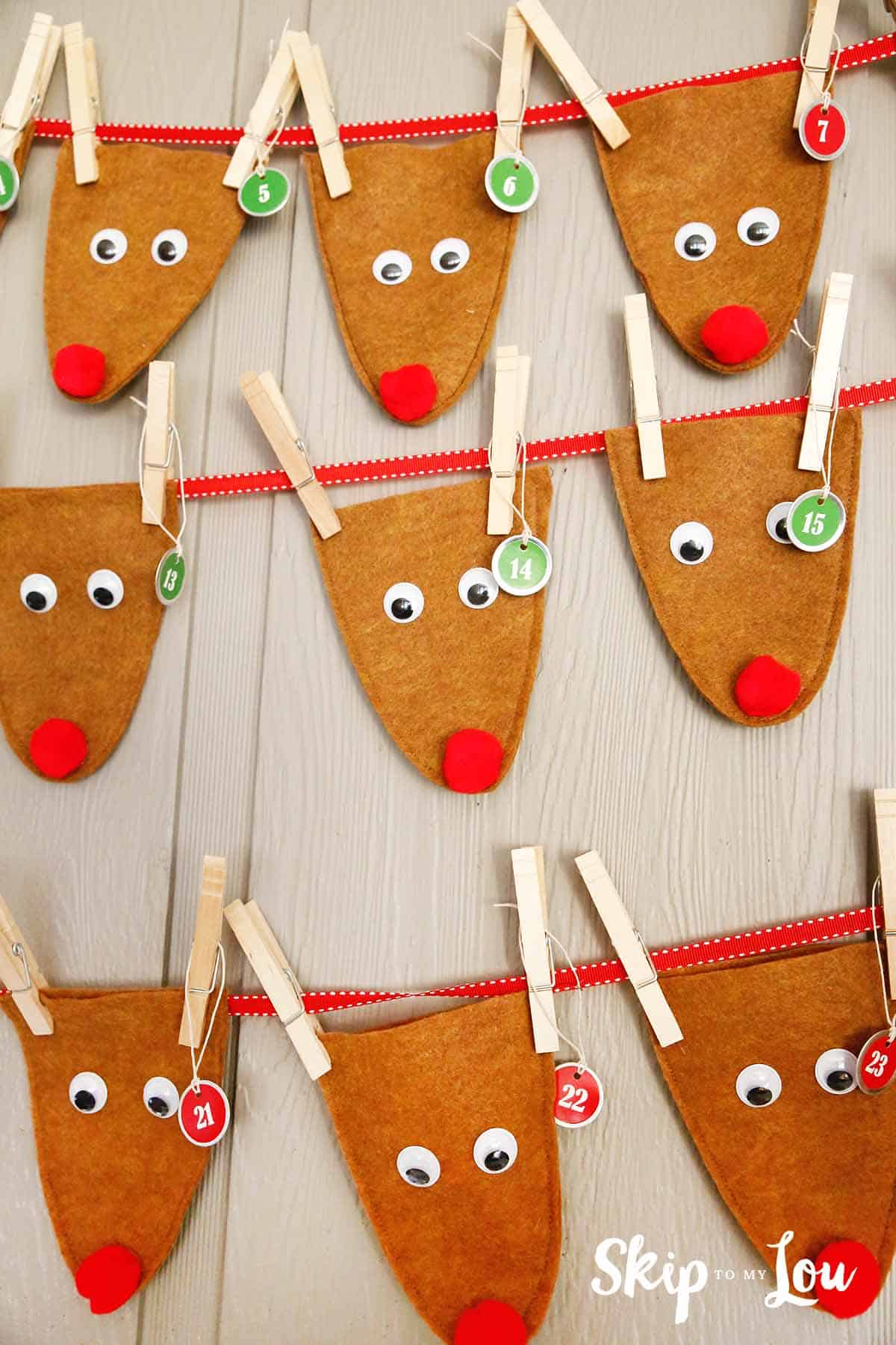 November Calendar Printables : Reindeer advent calendar skip to my lou