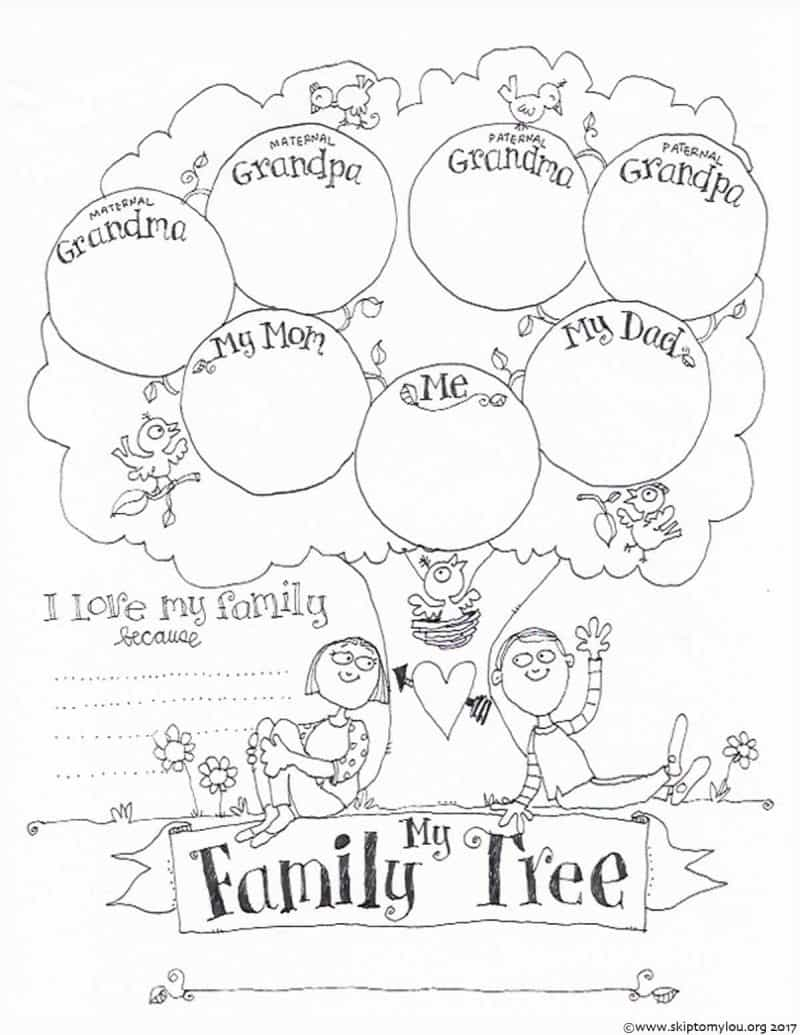 family printable coloring pages - photo#26