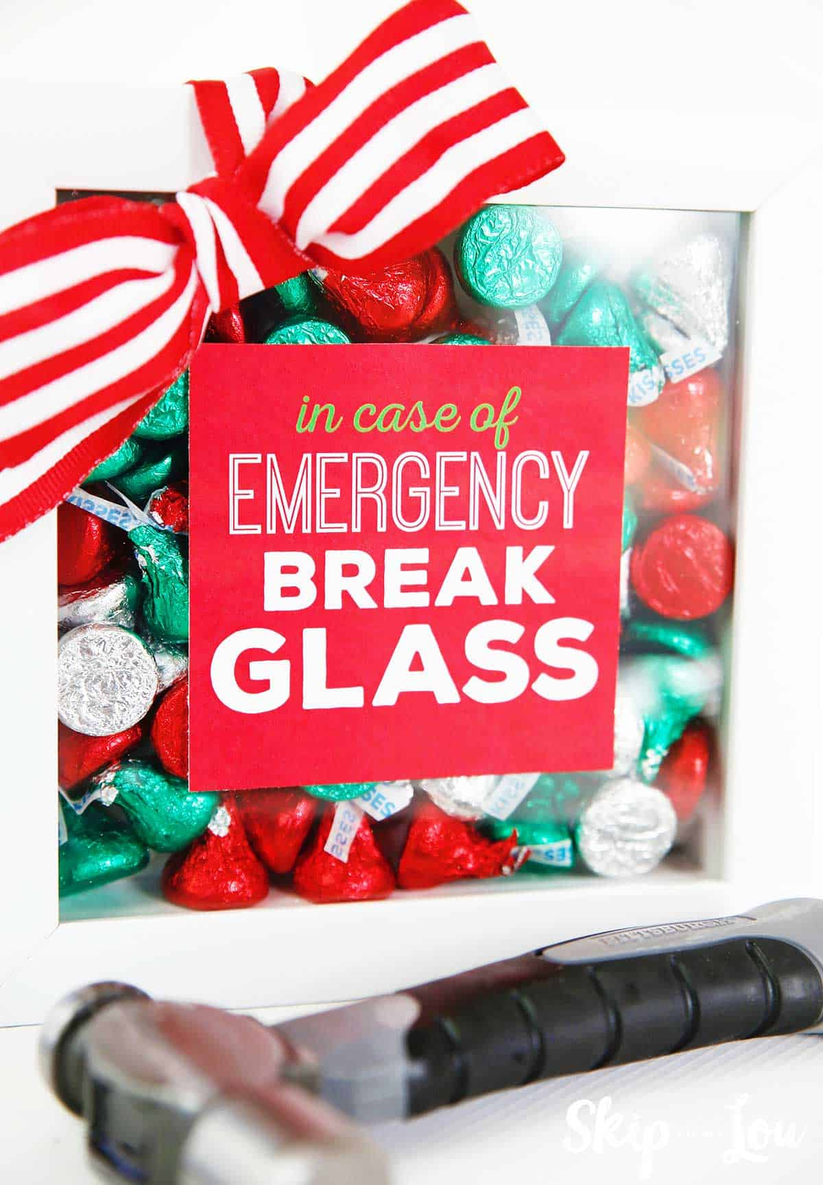 graphic relating to In Case of Emergency Break Glass Printable referred to as White Elephant Reward Designs Pass up Toward My Lou