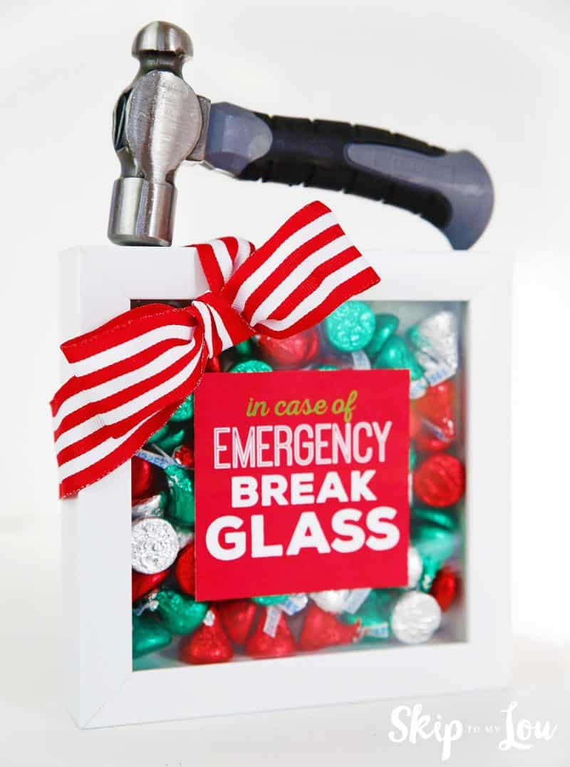 picture regarding In Case of Emergency Break Glass Printable named White Elephant Present Plans Overlook In direction of My Lou