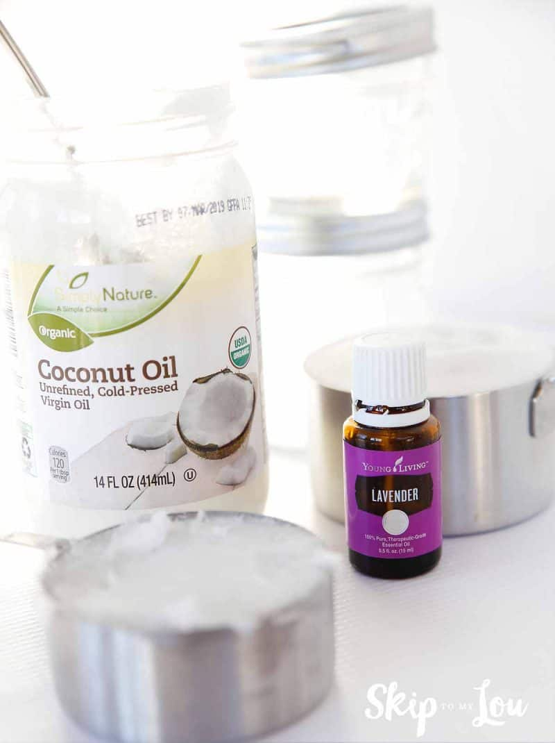 coconut oil lavender essential oils