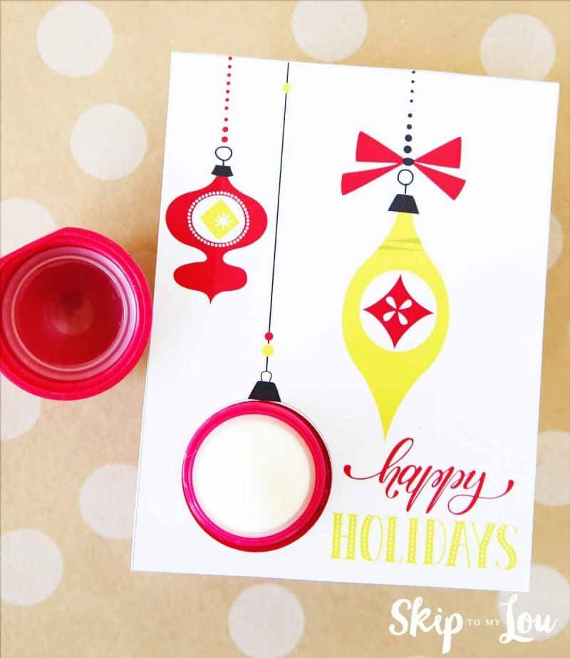 printable EOS lip balm holiday card