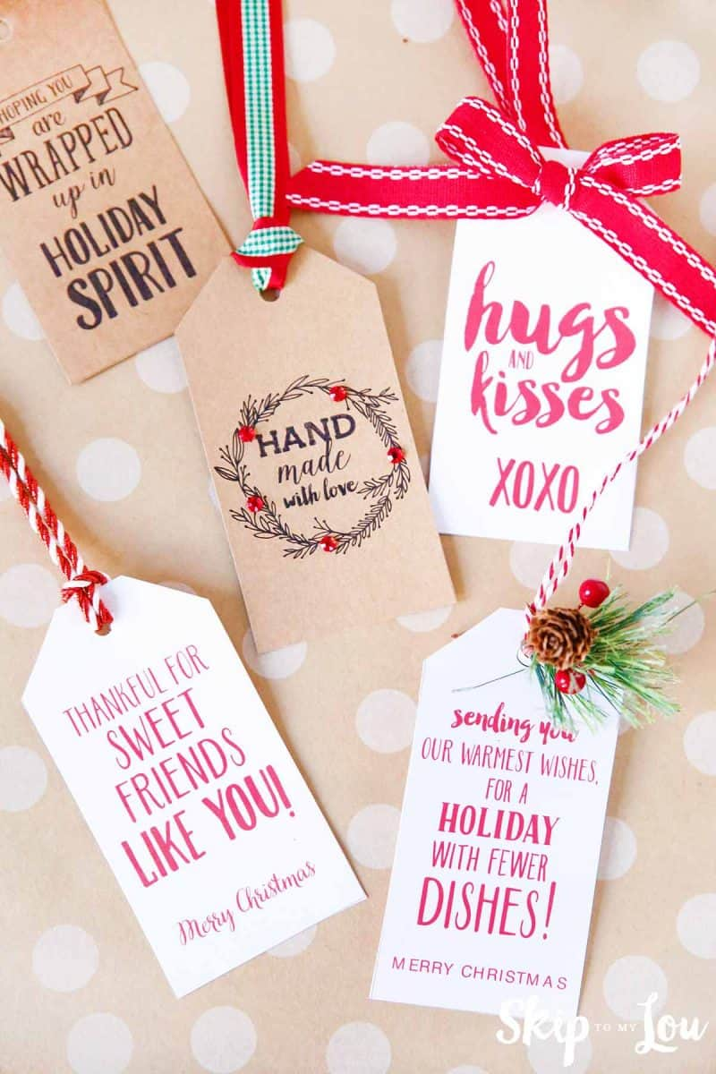 This is a picture of Nerdy Cute Gift Tags Printable