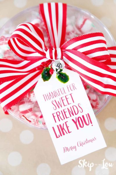 sweet gift with gift tag