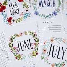 2018 printabla calendar free