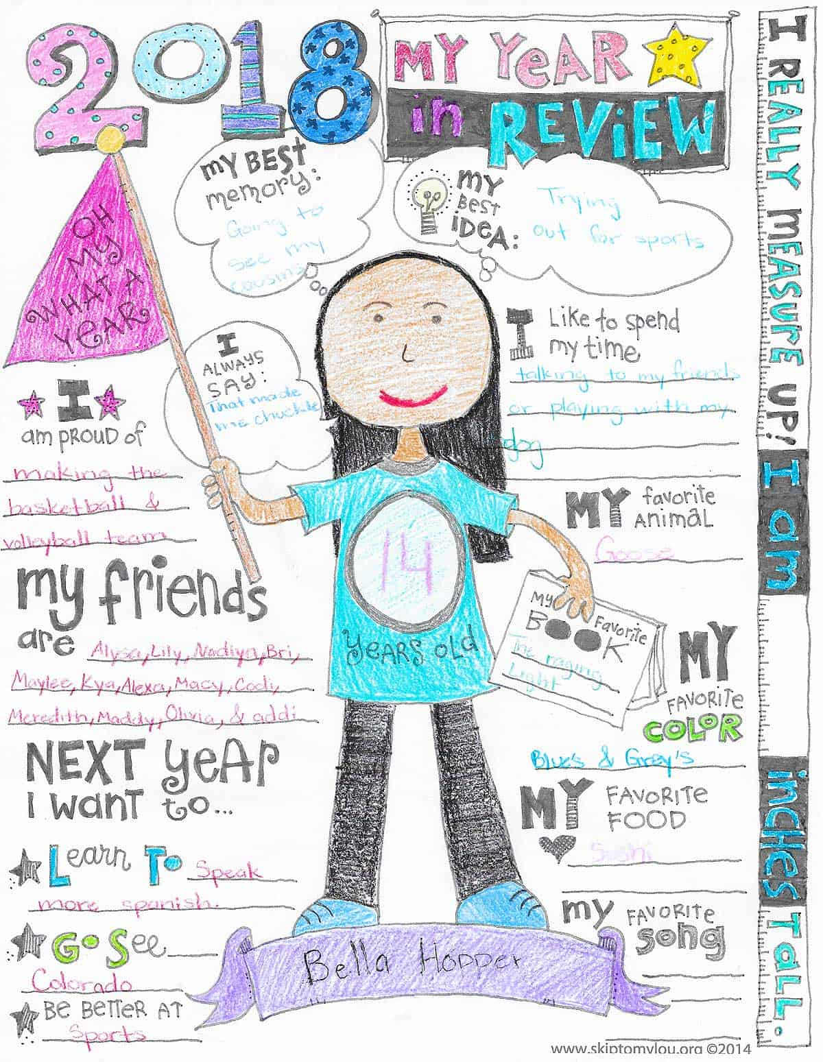 year in review coloring page