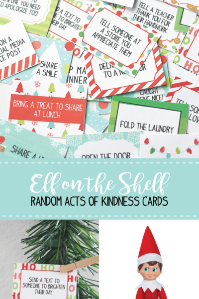 elf on the shelf kindness cards