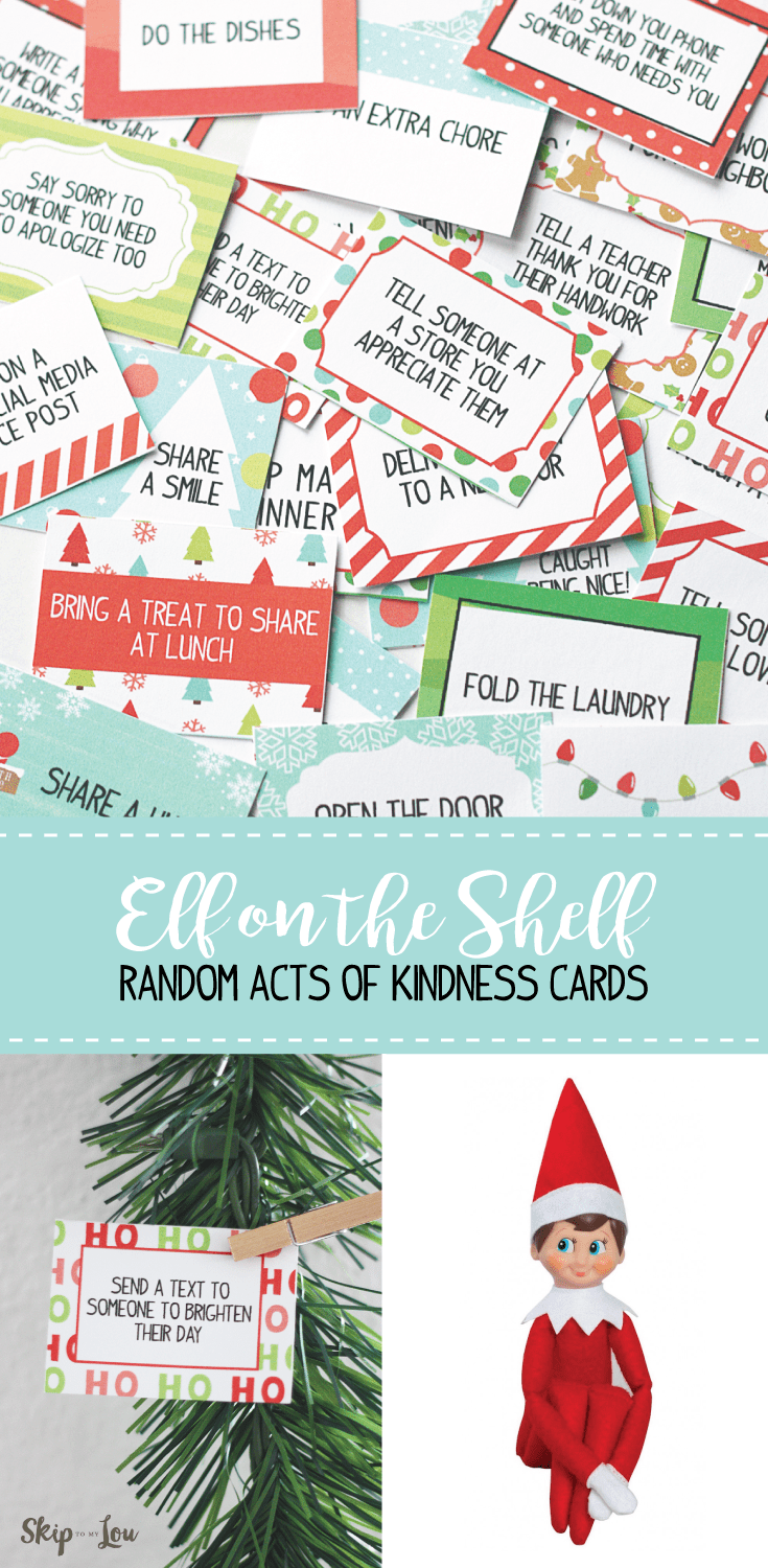 photograph about Kindness Cards Printable known as Elf upon the Shelf Printable Kindness Playing cards Overlook Towards My Lou