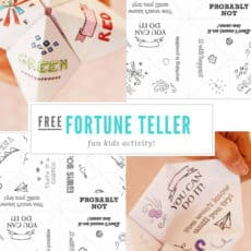 fortune teller Pinterest Graphic