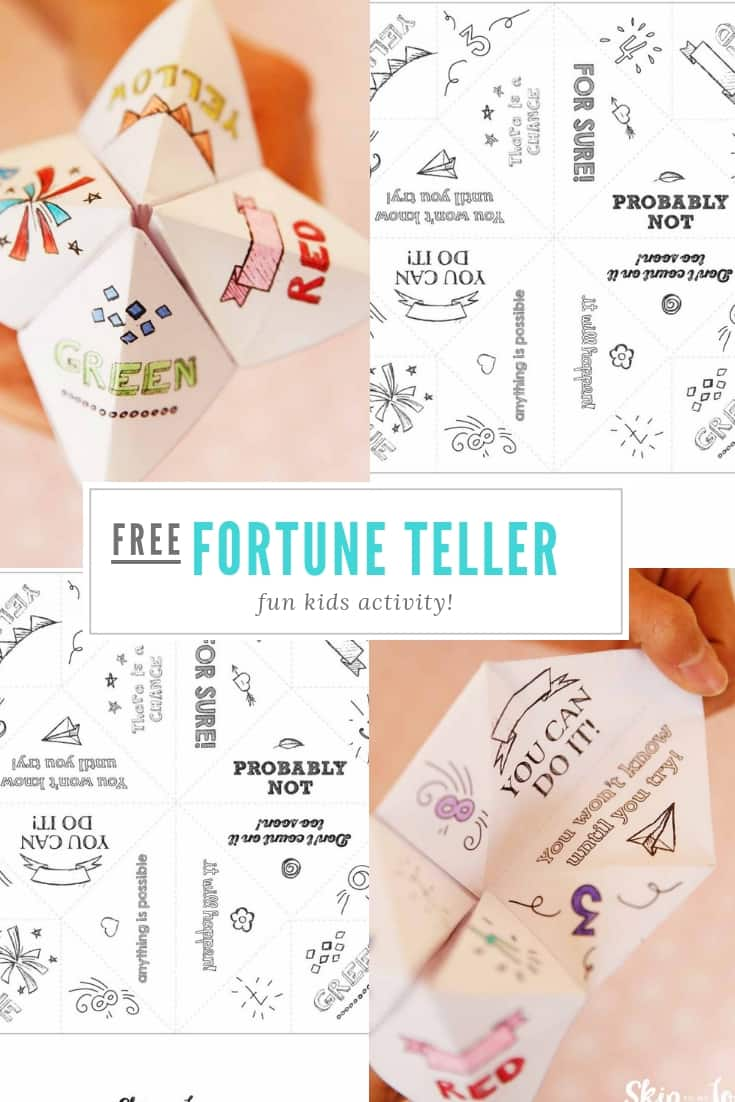 fortune teller Pinterest Graphic