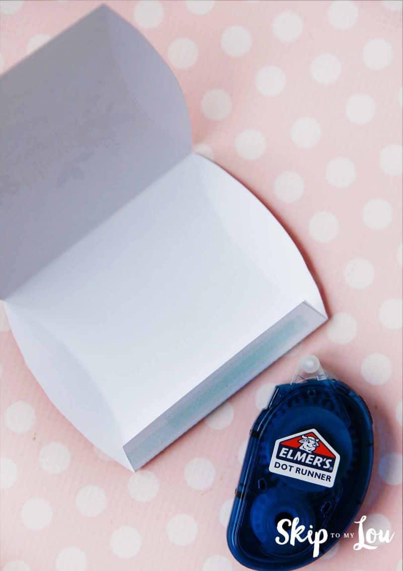 glue pillow box