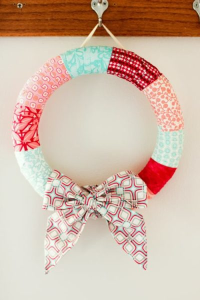 holday wrapped wreath