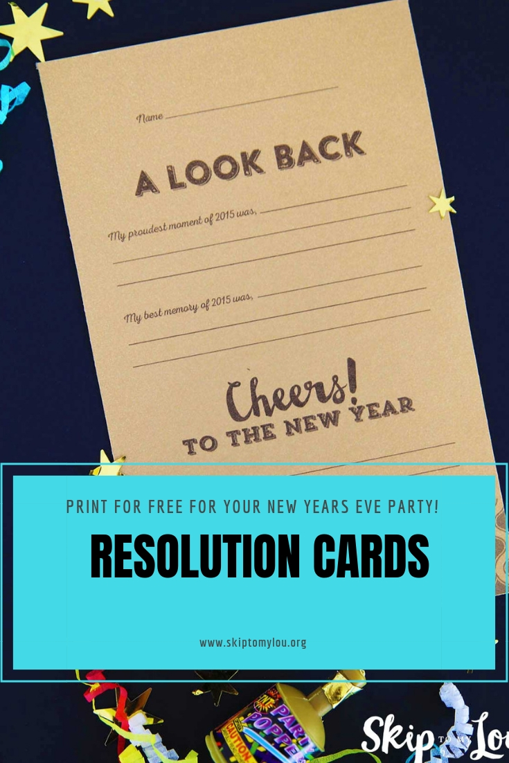 new years resolution cards Pinterest Graphic