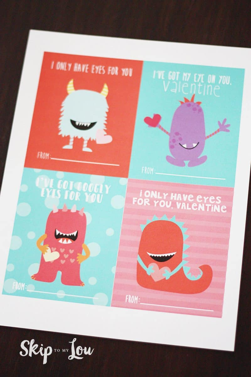 Googly Eyed Monster Valentines
