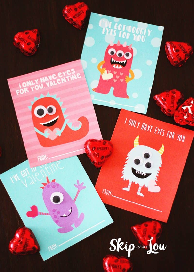 Monster Valentine Printables