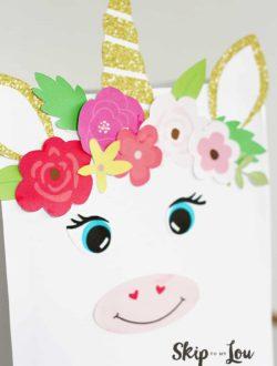 Tutorial Valentines Unicorn Box