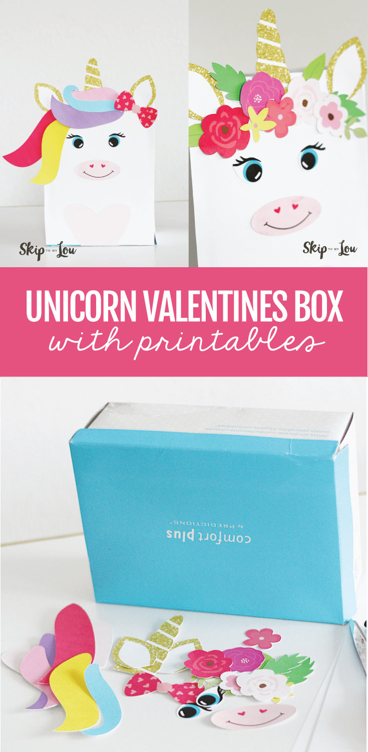 picture regarding Free Printable Unicorn Valentines titled Magical Unicorn Valentine Box with Totally free printables! Miss out on