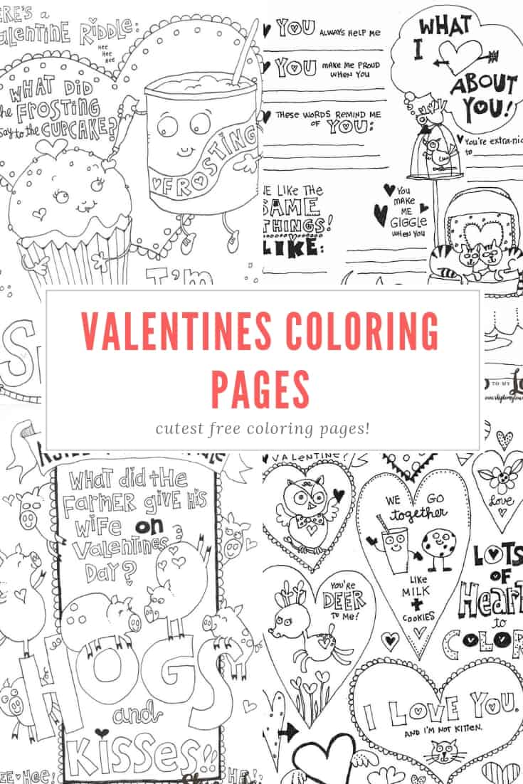The Cutest Valentines Coloring Pages Skip To My Lou