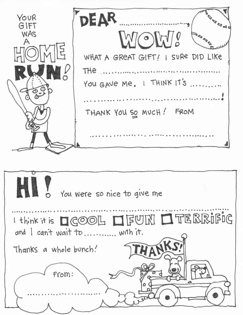 image relating to Printable Thank You Cards for Students known as Absolutely free Fill In just The Blank Thank Your self Playing cards For Youngsters Miss out on Toward My Lou