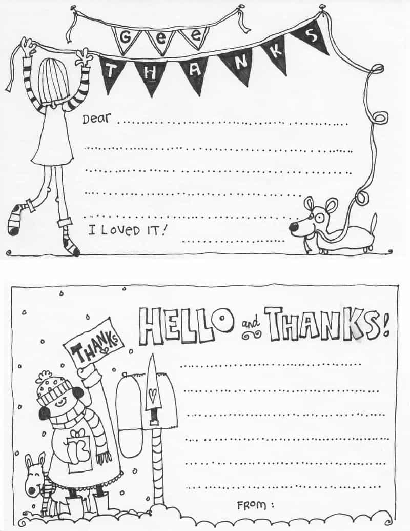 graphic regarding Fill in the Blank Thank You Cards Printable named No cost Fill Within just The Blank Thank By yourself Playing cards For Children Overlook In the direction of My Lou