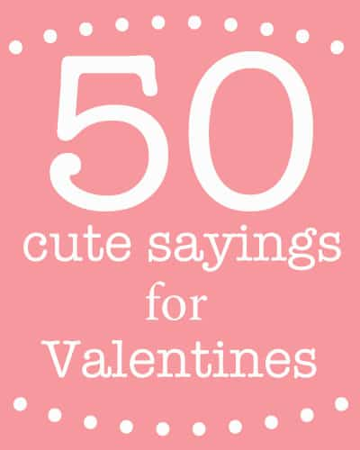 cute sayings for valentines