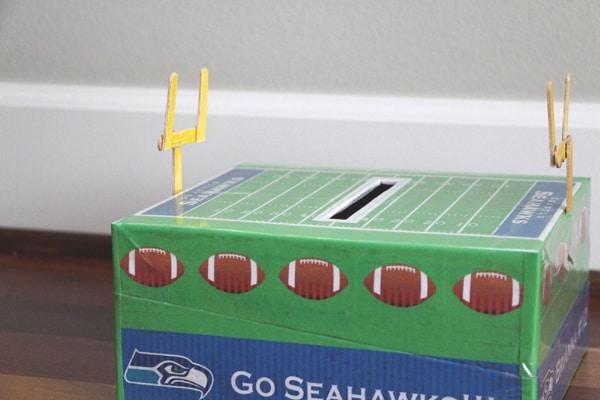 football valentine box