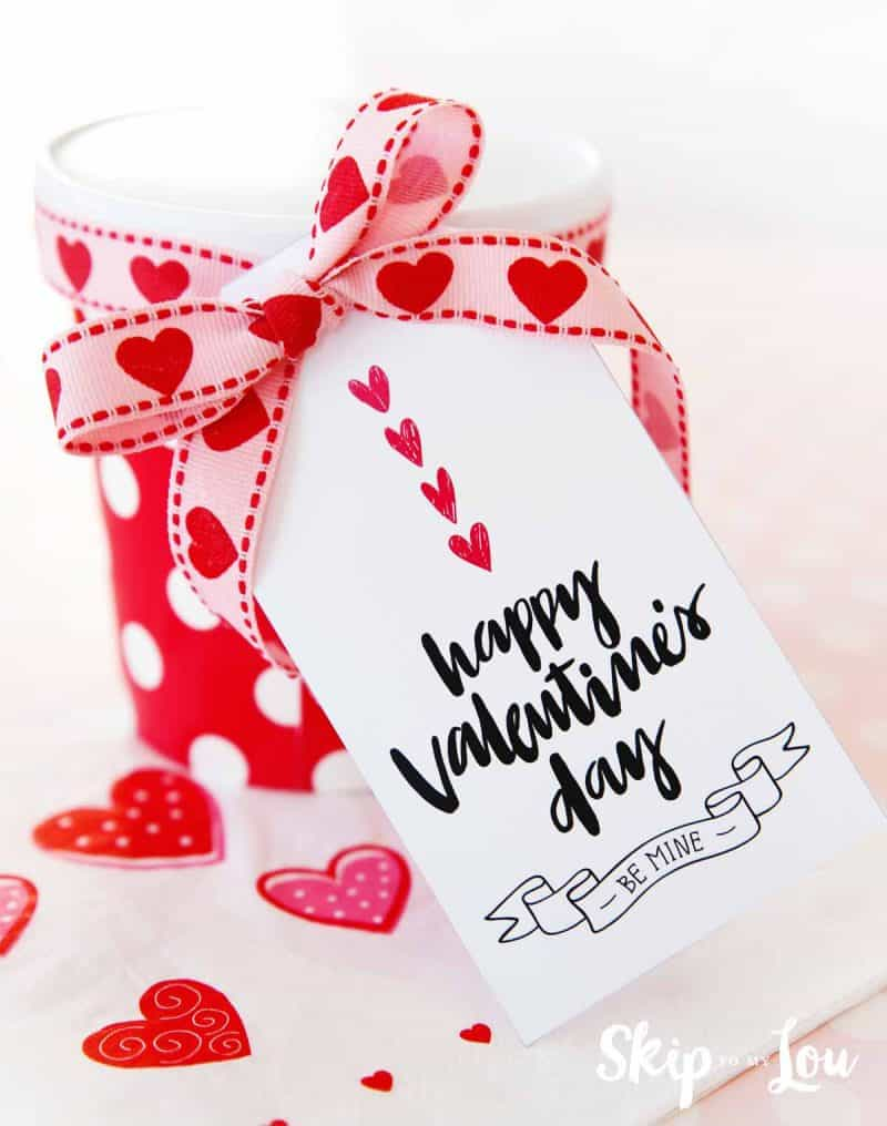 picture regarding Valentine's Day Tags Printable named Delighted Valentines Working day Present Tags Miss out on In direction of My Lou