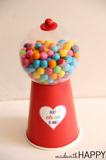 gum ball valentine box