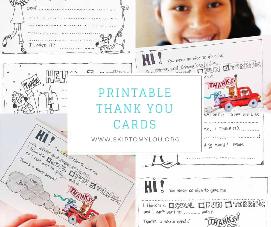 free fill in the blank thank you cards for kids skip to my lou
