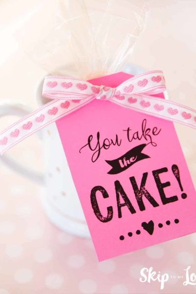 you take the cake gift tag