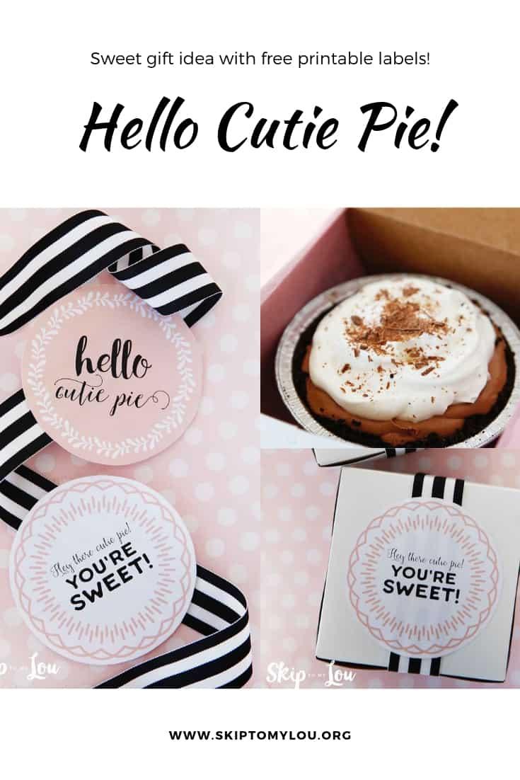 Hello Cutie Pie Pinterest Graphic