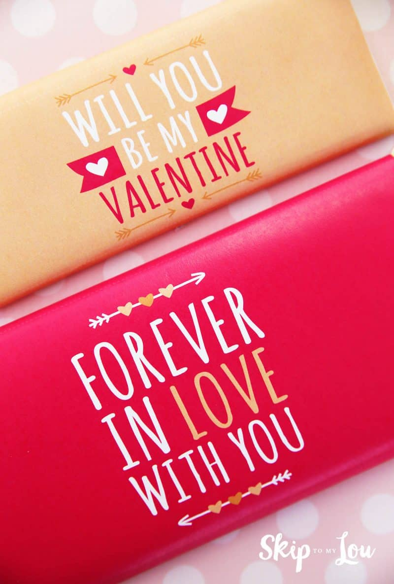 cute valentine candy wrappers to gift a candy bar