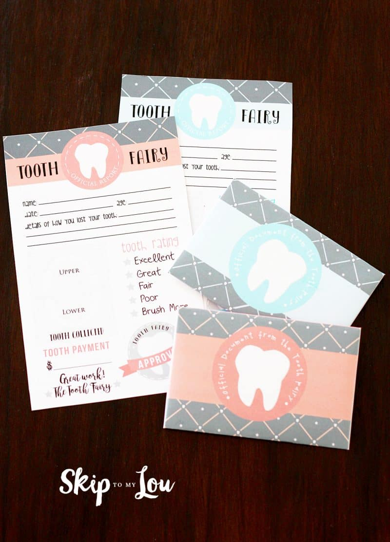 Free Printable Tooth Fairy Letter With Matching Enevelopes  Skip To