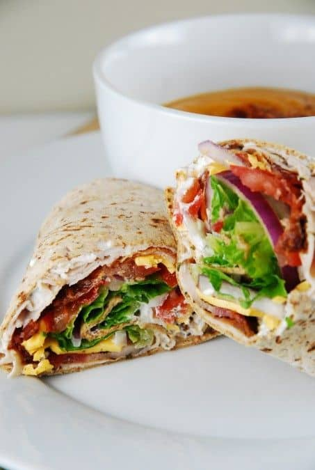 bacon ranch turkey wraps