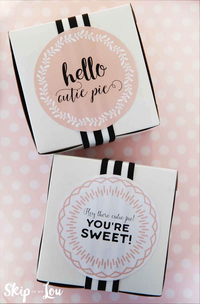 cutie pie printable pie labels