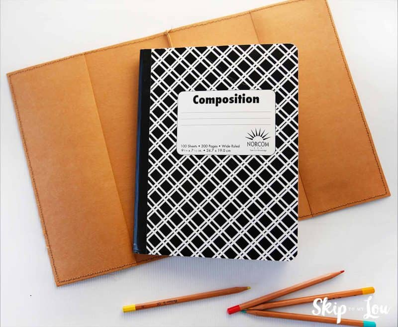 diy composition notebook cover
