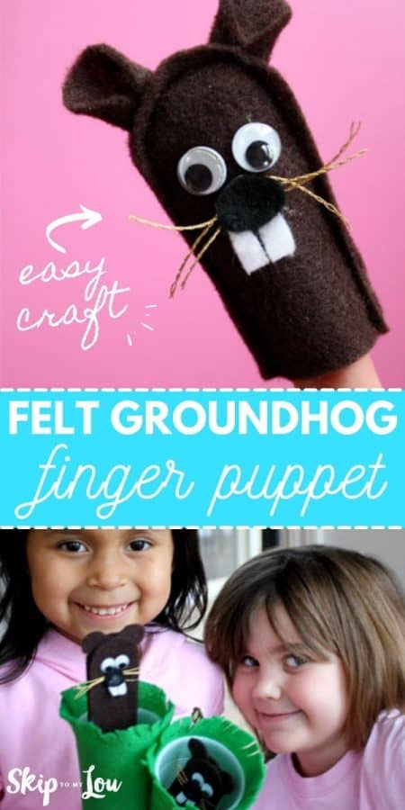 felt groundhog finger puppet PIN