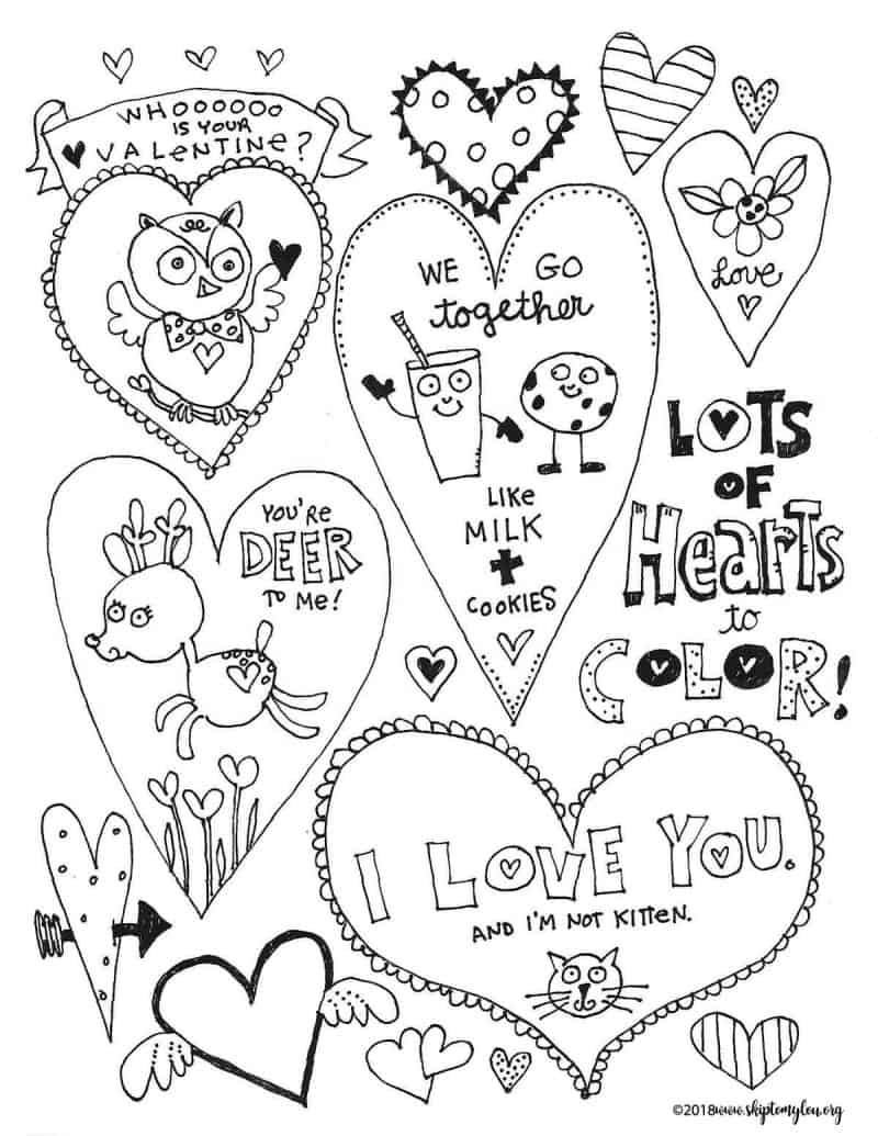 The BEST free Valentines Day Coloring Pages | Skip To My Lou