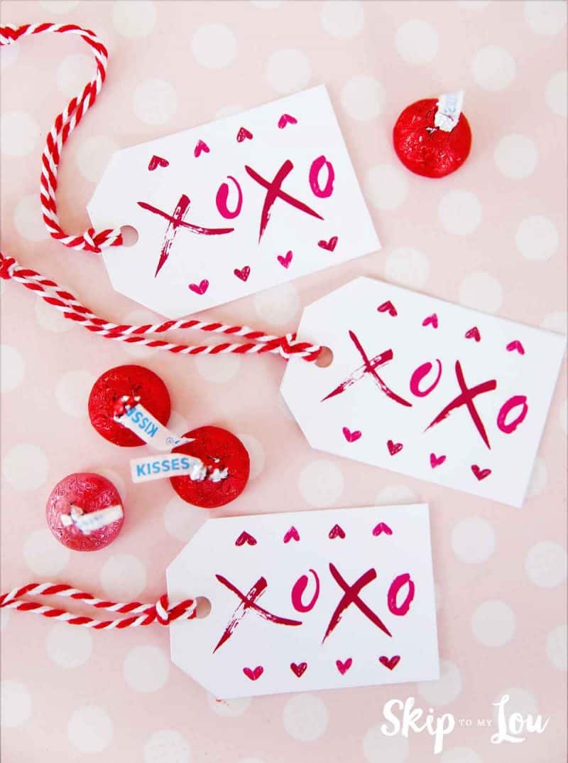 free printable XOXO gift tags