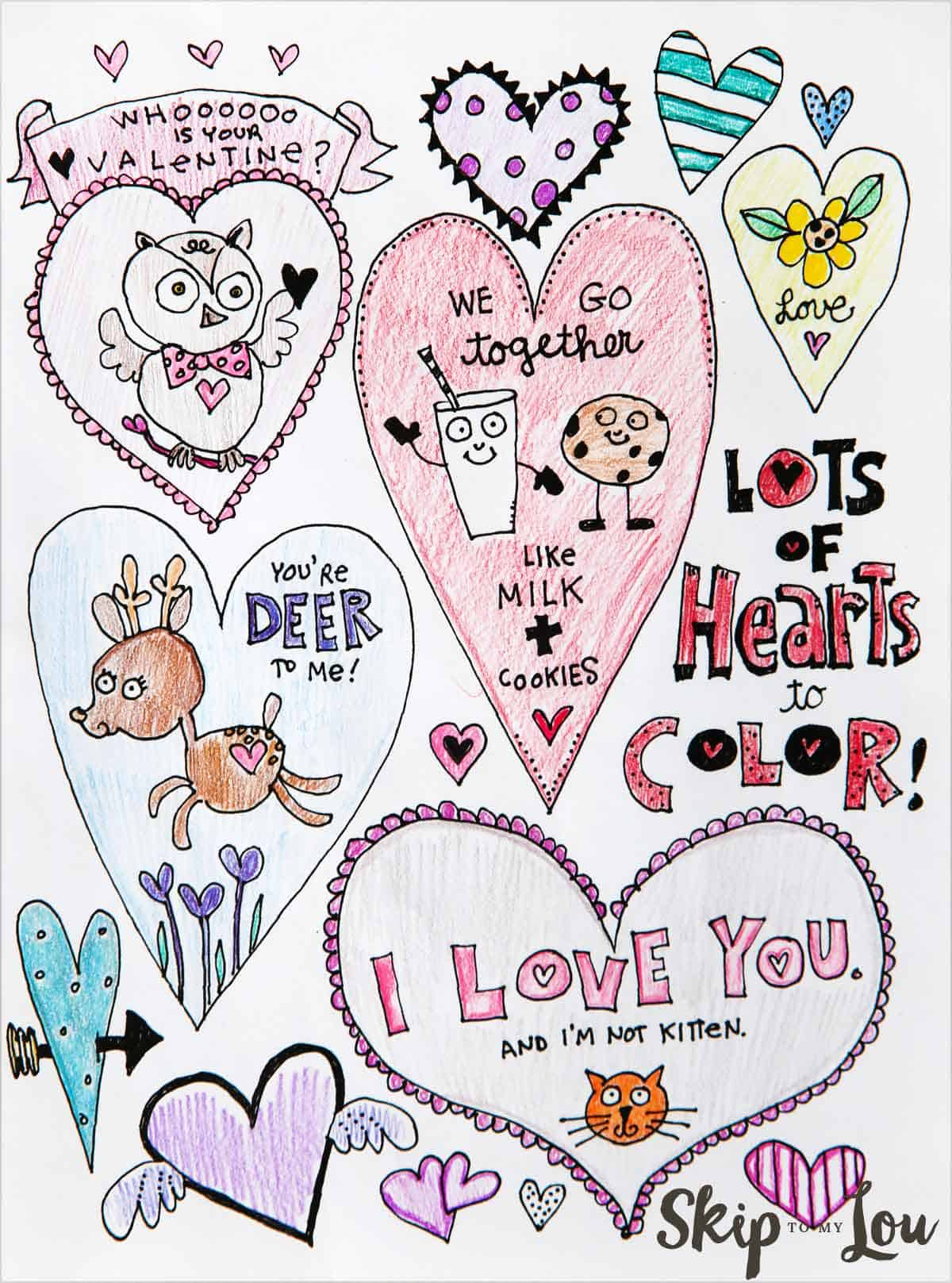 Adorable Free Heart Coloring Pages