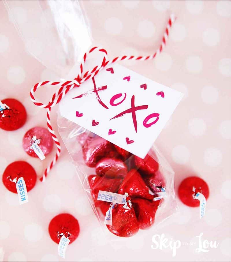 hugs and kisses xoxo gift tags