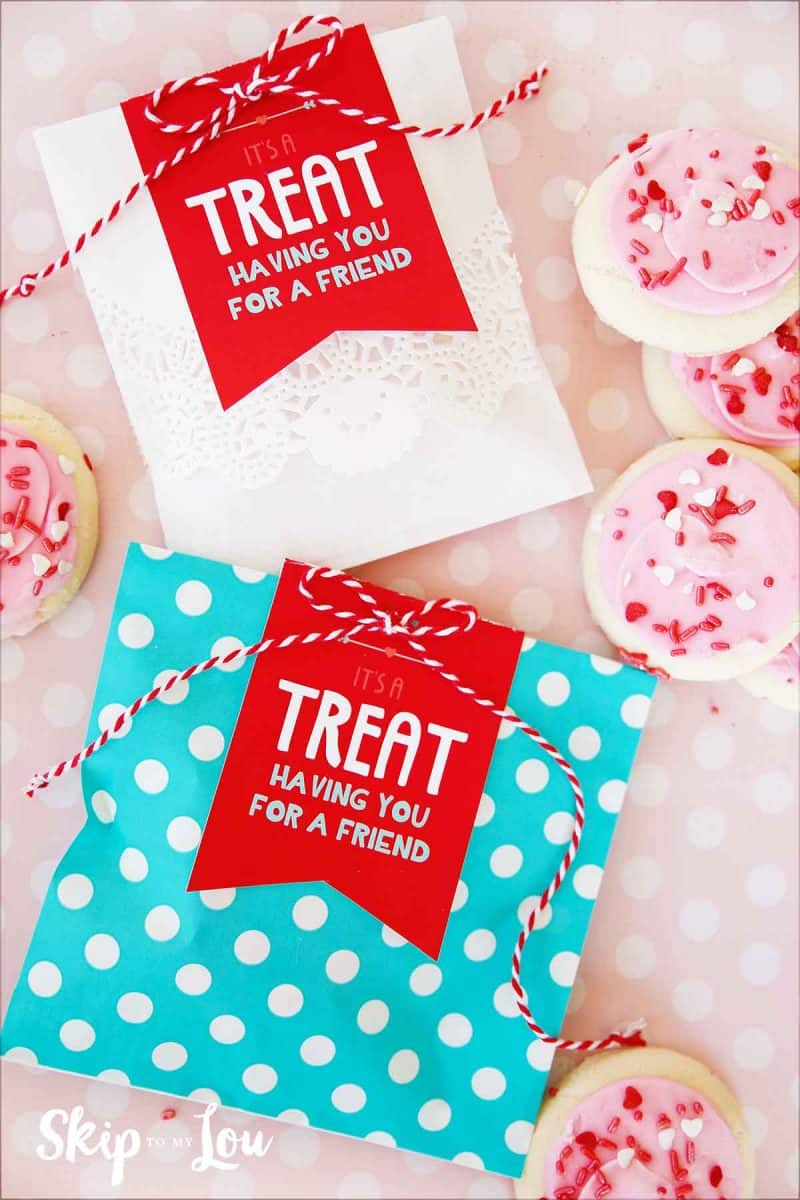 its a treat having you for a friend gift tag