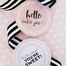 printable pie labels