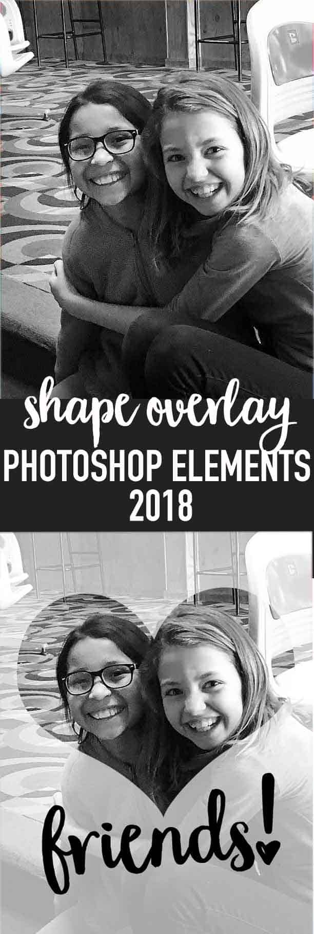 shape overlay photoshop elements 2018