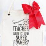 homemade teacher tote