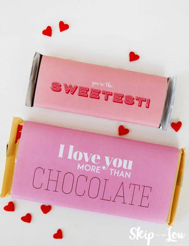 Cute valentine candy wrappers to gift a candy bar skip for Valentine candy bar wrapper templates