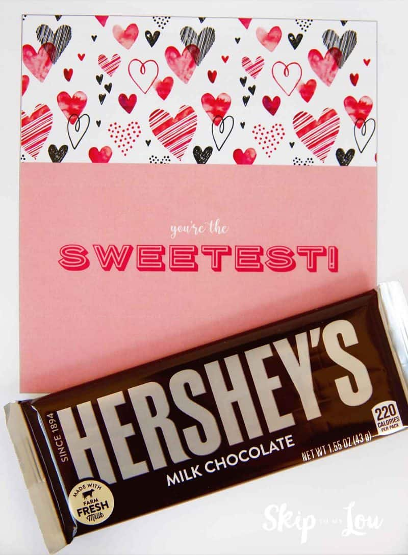 youre the sweetest candy bar wrapper