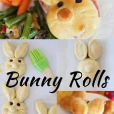 Bunny Rolls Pinterest Graphic