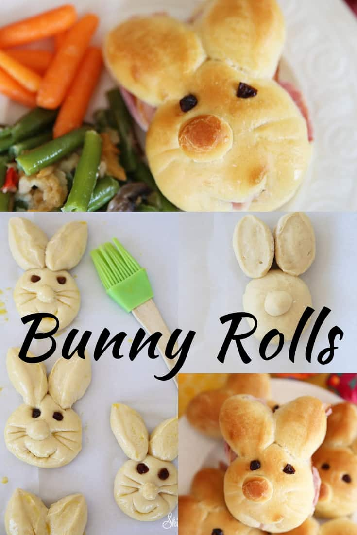 Bunny Rolls Pinterest Graphic
