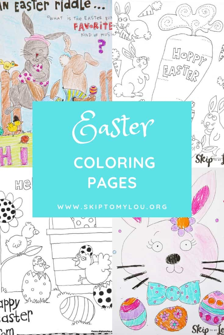 Easter coloring pages pinterest graphic